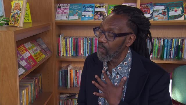 sir lenny henry releasing first children's book; england: london: int sir lenny henry reading book to children sot pupil listening sir lenny henry... - literature stock videos & royalty-free footage