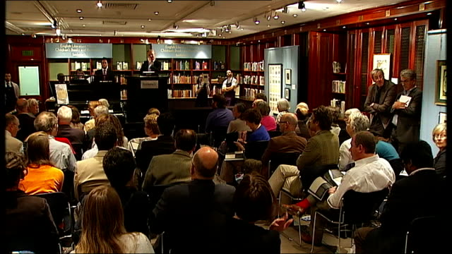 Sotheby's book auction Various shots of auction of Jane Austen manuscript 'The Watsons' sells for 850 thousand pounds