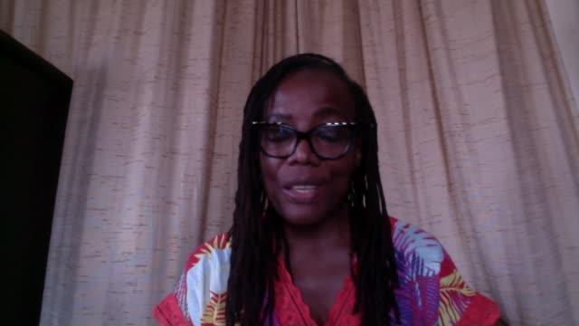 tsitsi dangarembga interview; england: london: gir: int tsitsi dangarembga 2-way interview sot - literature stock videos & royalty-free footage