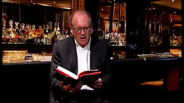 vídeos y material grabado en eventos de stock de william boyd interview on new james bond novel; boyd reading from his book 'solo' sot - william boyd