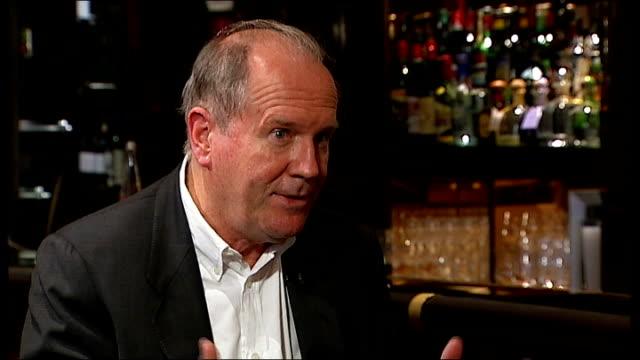 vídeos y material grabado en eventos de stock de william boyd interview on new james bond novel; boyd interview sot - william boyd
