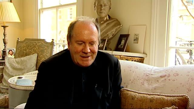 vídeos y material grabado en eventos de stock de william boyd to write new james bond novel: interview; william boyd interview continues sot - william boyd