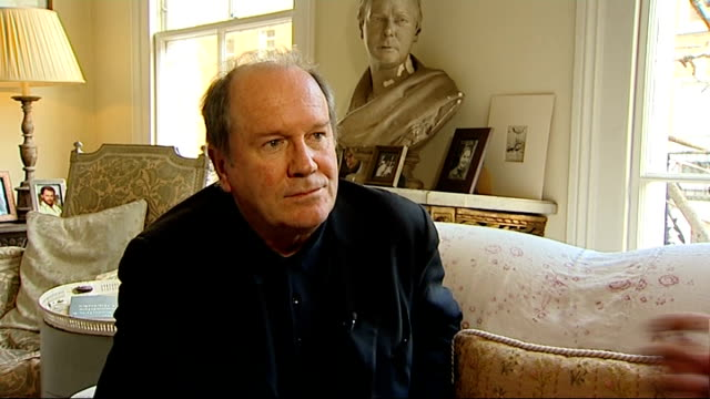 vídeos y material grabado en eventos de stock de william boyd to write new james bond novel: interview; england: london: chelsea: int william boyd interview sot - on being asked to write the new... - william boyd