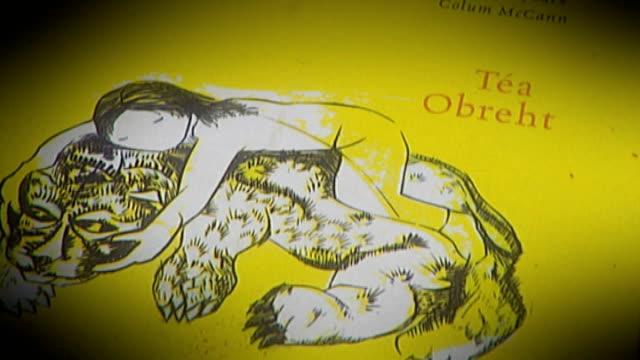 "winner of orange prize 2011 announced; england: london: royal festival hall: int tea obreht reading from her book ""the tiger's wife"" sot cutaway... - ロイヤルフェスティバルホール点の映像素材/bロール"
