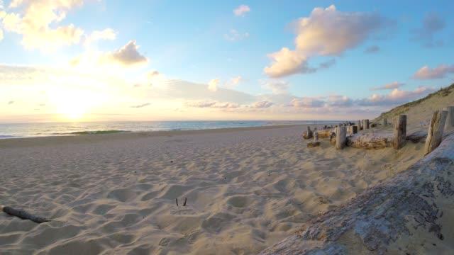 Lit-et-Mixe Beach, sunset