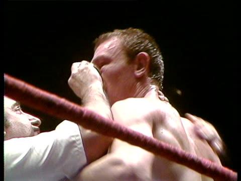Lithgo's corner throw the towel in Frank Bruno vs Stewart Lithgo
