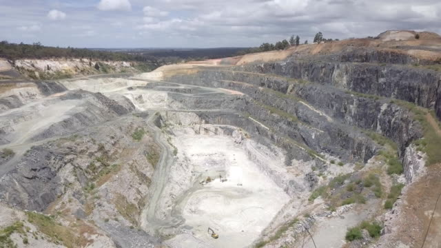 lithium mine in greenbushes south western australia - mining natural resources stock videos & royalty-free footage
