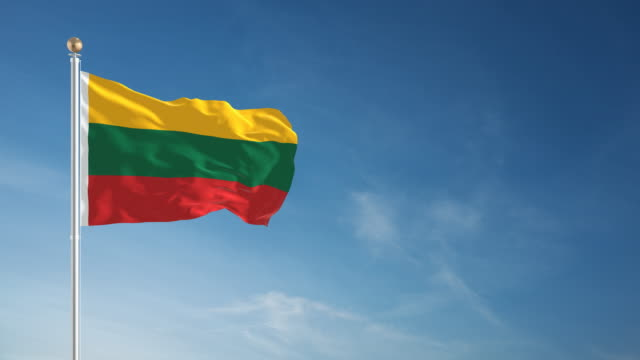 4k lithuania flag - loopable - intricacy stock videos & royalty-free footage