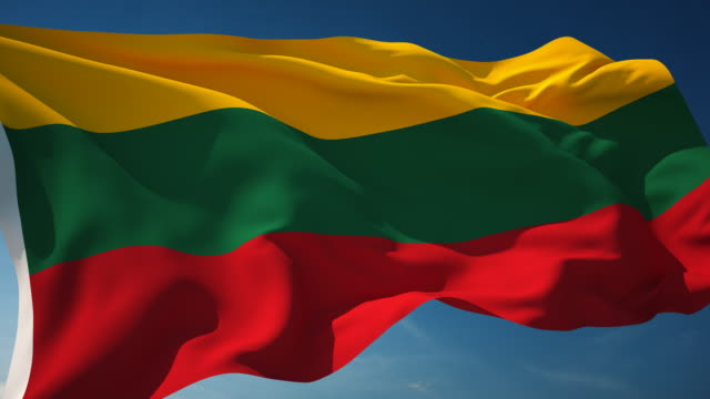 4k lithuania flag - loopable - lithuania stock videos and b-roll footage