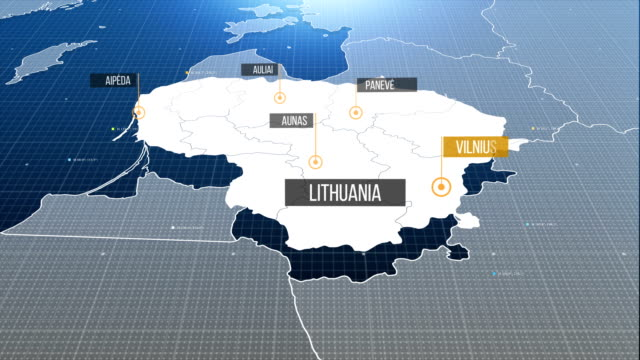 lithuania map with label then with out label - lithuania stock videos & royalty-free footage
