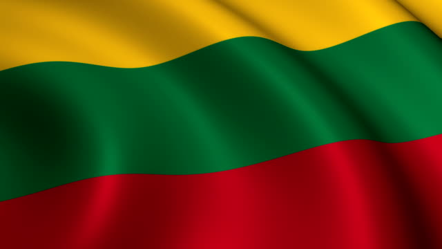 lithuanian flag loopable - lithuania stock videos and b-roll footage