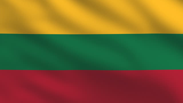 lithuanian flag - lithuania stock videos and b-roll footage
