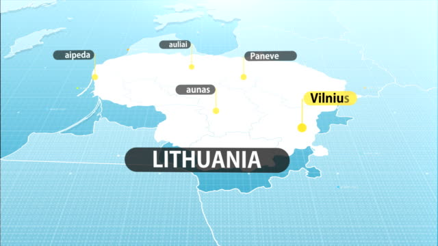 lithuanian  map - lithuania stock videos & royalty-free footage