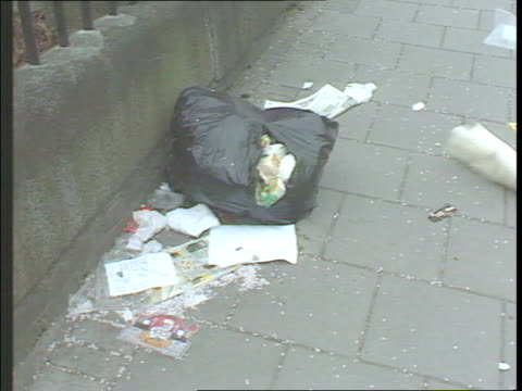 litter on pavement cs neighbourhood watch sign scout troop in sports hall music ends - citizenship stock videos & royalty-free footage