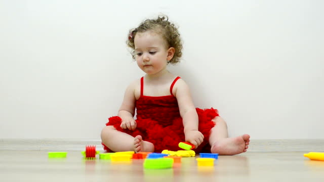 little adorable girl - 18 23 months stock videos & royalty-free footage