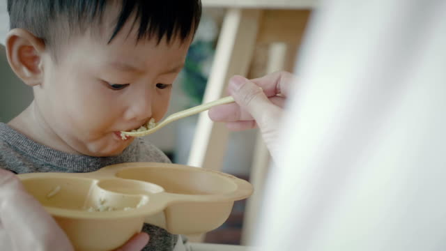 a little baby (6-11months) boy eating - 6 11 months stock videos & royalty-free footage