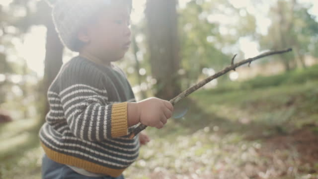 little baby boy in nature - camping stock videos and b-roll footage