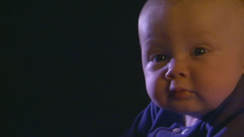 little baby boy up on his forearms, pan - one baby boy only stock videos & royalty-free footage
