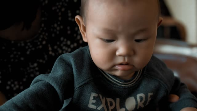 little baby boy(2-5 months) - 2 5 months stock videos & royalty-free footage