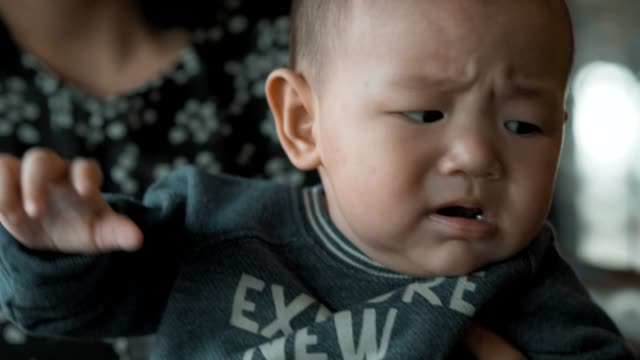 little baby boys are sick. - postpartum depression stock videos & royalty-free footage