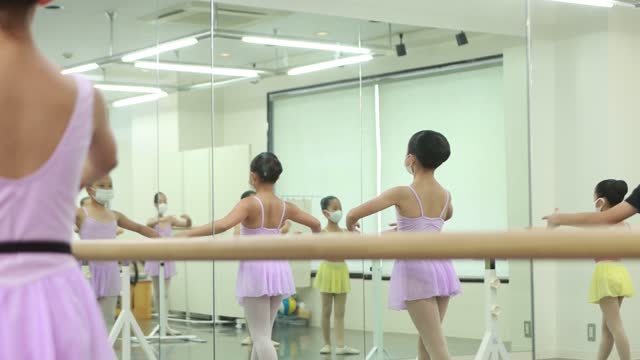 little ballerinas at ballet dance class in asia - 10 11 years stock videos & royalty-free footage