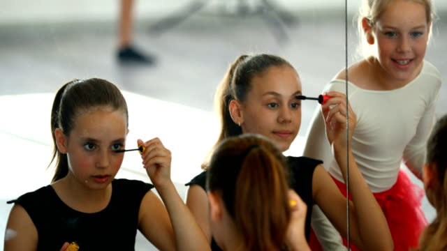 little ballerinas on a break - performing arts event stock videos & royalty-free footage