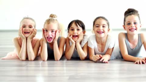 little ballerinas. - dance studio stock videos & royalty-free footage