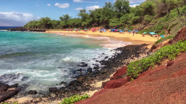 little beach maui hawaii - naturist stock-videos und b-roll-filmmaterial