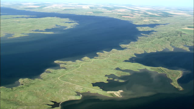 Little Bend On the Missouri River  - Aerial View - South Dakota, Sully County, United States