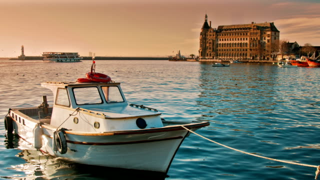 Little Boat and Haydarpasa Train Station