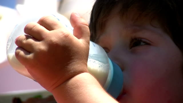 Little Boy and Milk