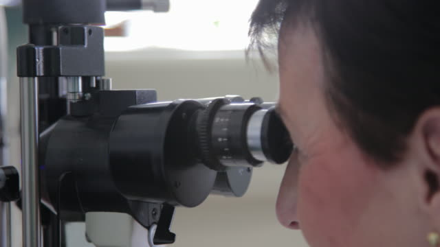 little boy at ophthalmologist office - ophthalmologist stock videos and b-roll footage