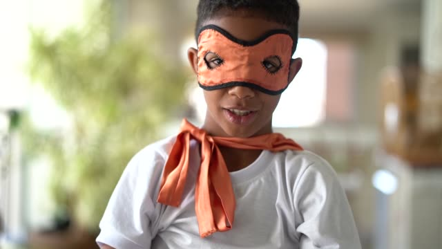 little boy dressed as superhero concept - heroes stock videos & royalty-free footage