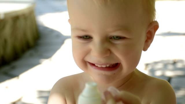 little boy drinking water - biscuit stock videos & royalty-free footage