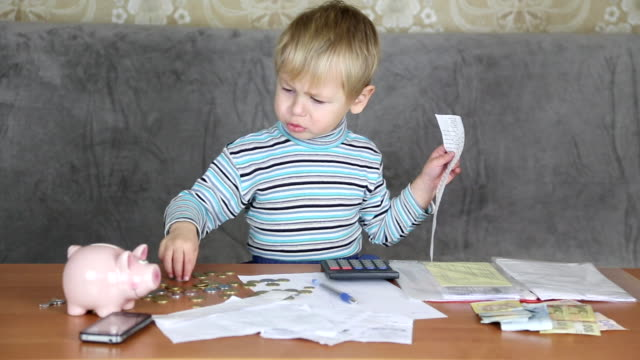 little boy financier - tax form stock videos & royalty-free footage