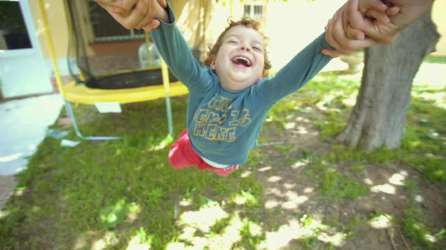 little boy flying around in pov of his father - one parent stock videos & royalty-free footage