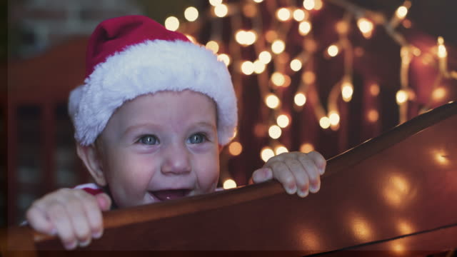 little boy in christmas - christmas decoration stock videos and b-roll footage