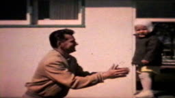 Little Boy Jumps To His Dad (1963 - Vintage 8mm)