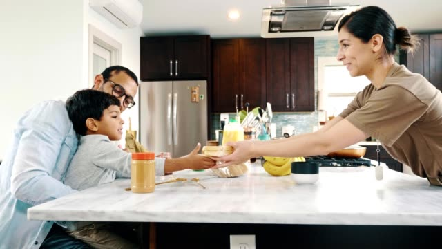 little boy makes a sandwich for his mom - sign language stock videos & royalty-free footage