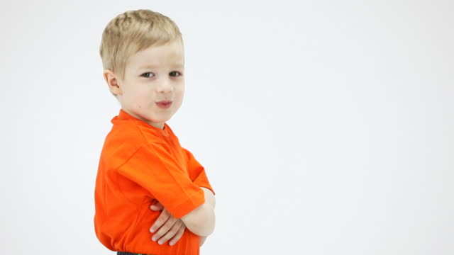 little boy nods approvingly, shows thumbs up - sign language stock videos and b-roll footage