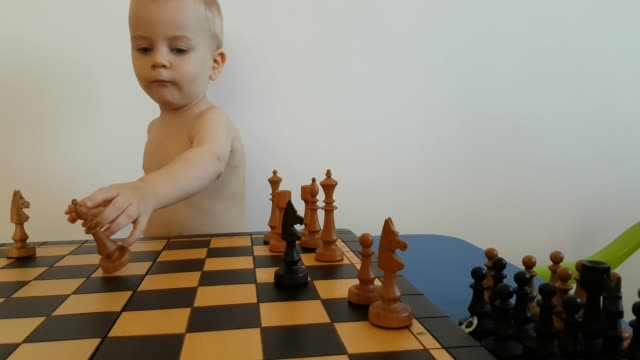 little boy playing chess - chess stock videos & royalty-free footage