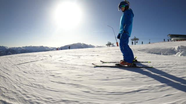 little boy skiing in the alps - ski holiday stock videos & royalty-free footage