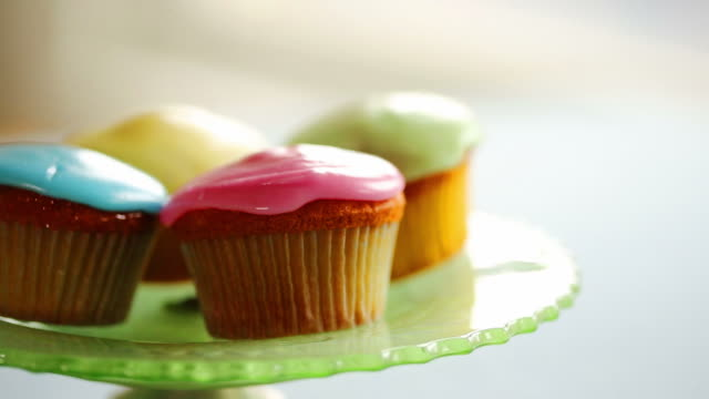 little cakes   fo ce - cupcake stock videos and b-roll footage