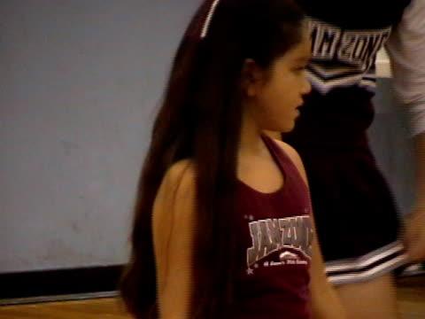 little cheerleader 002 - cheerleader stock videos & royalty-free footage