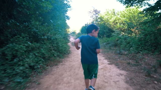 little cute boy running in the forest - 4 5 years stock videos & royalty-free footage