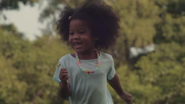 little cute girl running - running stock videos & royalty-free footage