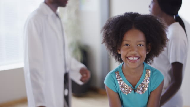 little girl and mother visit doctor - child hospital stock videos & royalty-free footage