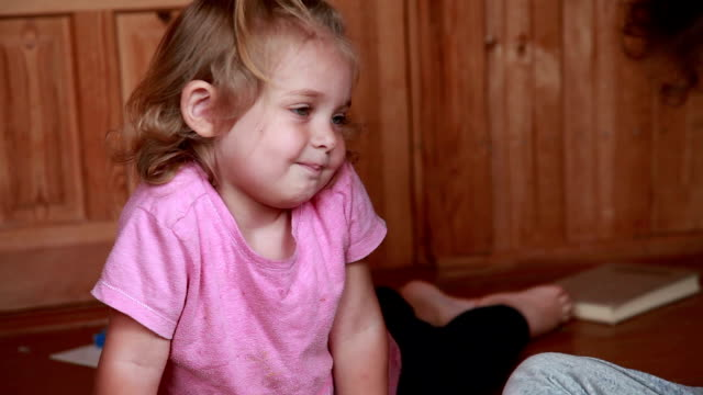 little girl asking her older sister for a toy - asking stock videos & royalty-free footage