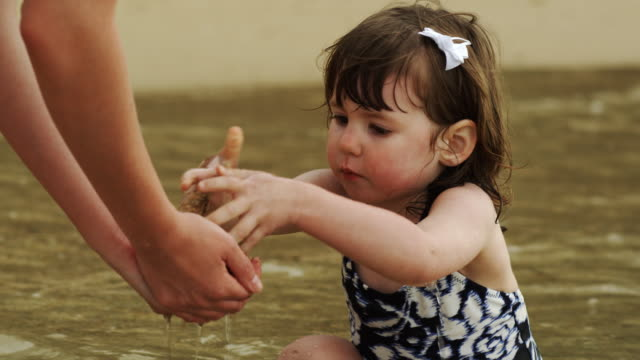 little girl at the beach  - three quarter length stock videos & royalty-free footage