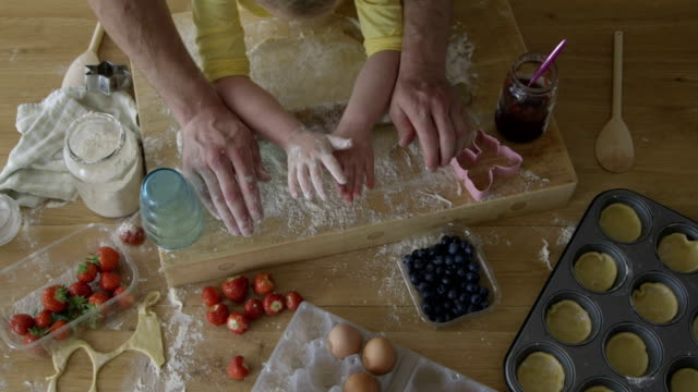 little girl baking - messy stock videos & royalty-free footage